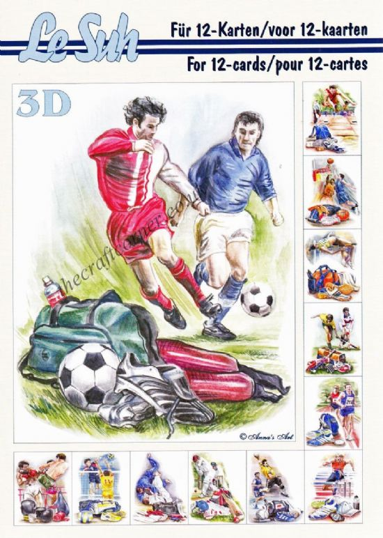 Sports A5 3D Decoupage Book from Le Suh